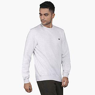 Wildcraft Men Crew Sweatshirt - Light Grey Melange